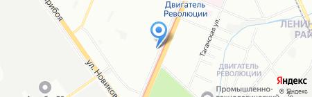 Техсервис на карте Нижнего Новгорода