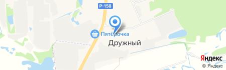 Киоск по продаже бытовой химии на карте Ближнего Борисово