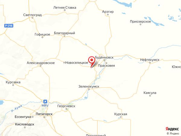 поселок Херсонский на карте