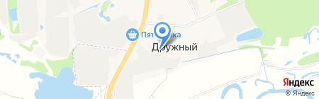 Магазин продуктов на карте Ближнего Борисово
