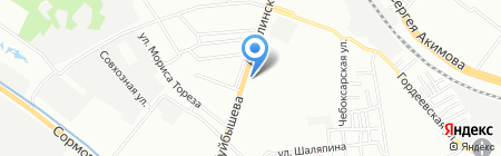 Синтезпласт на карте Нижнего Новгорода