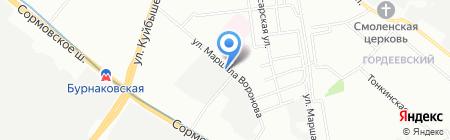 Арсенал НН на карте Нижнего Новгорода