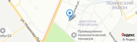 ГИПЕР-НН на карте Нижнего Новгорода