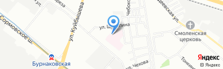 Поликлиника №3 на карте Нижнего Новгорода