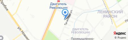 Детский сад №256 на карте Нижнего Новгорода
