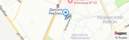 Клякса на карте Нижнего Новгорода