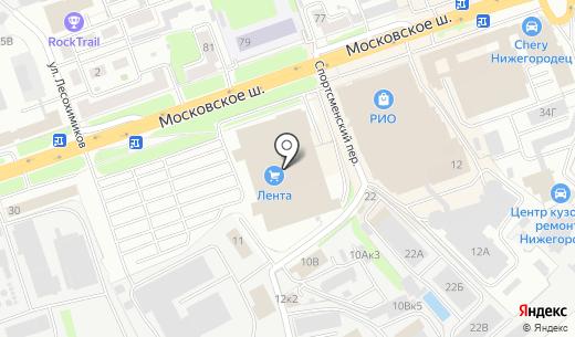Евросеть. Схема проезда в Нижнем Новгороде