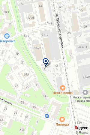 ФАДЕЕВ А.В. на карте Нижнего Новгорода