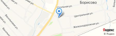 Ближнеборисовская сельская библиотека на карте Ближнего Борисово