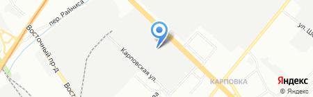 Зенит на карте Нижнего Новгорода
