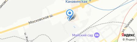 Пирамида на карте Нижнего Новгорода