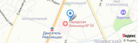 Лабиринт на карте Нижнего Новгорода