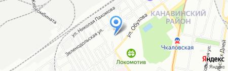 Средняя общеобразовательная школа №96 на карте Нижнего Новгорода