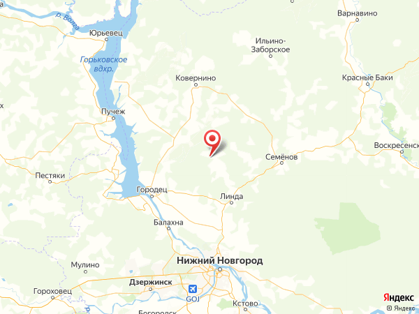 деревня Чернуха на карте