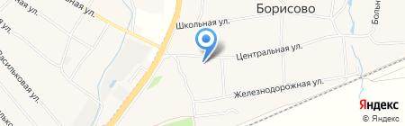 Почтовое отделение №687 на карте Ближнего Борисово