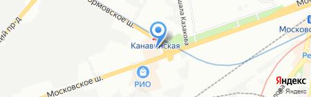 Магнолия на карте Нижнего Новгорода