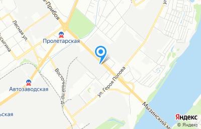 Местоположение на карте пункта техосмотра по адресу г Нижний Новгород, ул Новикова-Прибоя, д 4