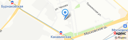 Детский сад №411 на карте Нижнего Новгорода