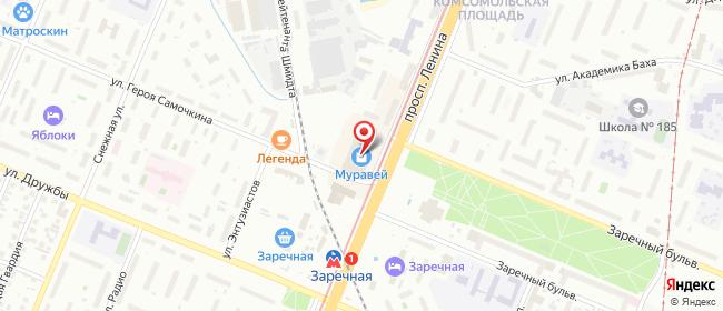 Карта расположения пункта доставки СИТИЛИНК в городе Нижний Новгород