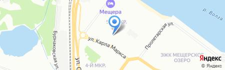 Детский сад №18 на карте Нижнего Новгорода