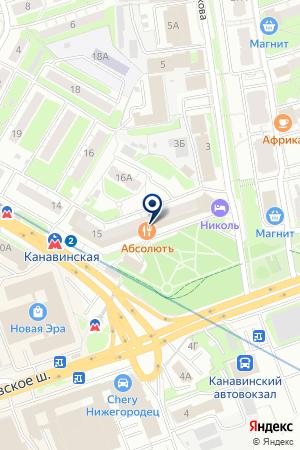 СЕРВИСНЫЙ ЦЕНТР СИМОНА на карте Нижнего Новгорода
