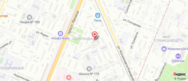 Карта расположения пункта доставки Ростелеком в городе Нижний Новгород