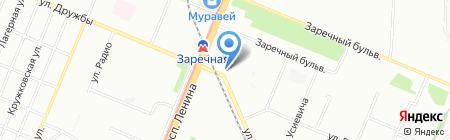Строитель на карте Нижнего Новгорода