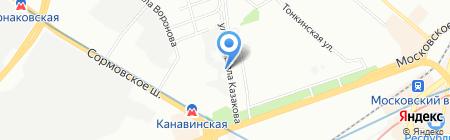 Магистраль на карте Нижнего Новгорода