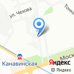 Персона на карте Нижнего Новгорода