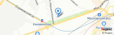Канавино на карте Нижнего Новгорода