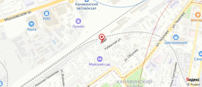 Карта расположения пункта доставки Нижний Новгород Октябрьской Революции в городе Нижний Новгород