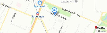 Школа-интернат №6 на карте Нижнего Новгорода