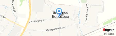 Киоск по продаже хлебобулочных изделий на карте Ближнего Борисово