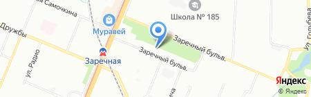 Эдем на карте Нижнего Новгорода