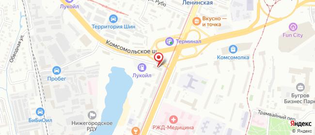Карта расположения пункта доставки Нижний Новгород Ленина в городе Нижний Новгород
