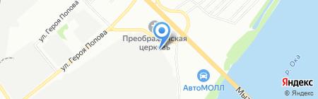 Дольче Аква на карте Нижнего Новгорода