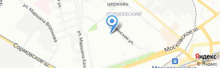 Средняя общеобразовательная школа №121 на карте Нижнего Новгорода