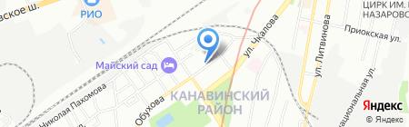 Аквакит-НН на карте Нижнего Новгорода