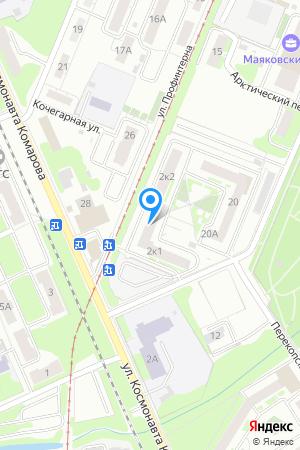Дом 2 корп.1 по ул. Комарова, ЖК Заречный на Яндекс.Картах