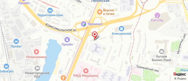 Карта расположения пункта доставки NORD EXPRESS в городе Нижний Новгород