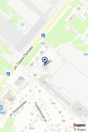 СЕТЬ МАГАЗИНОВ ВОСТОК-СЕРВИС НН на карте Нижнего Новгорода