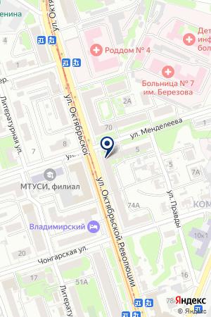 РЕКЛАМНОЕ АГЕНТСТВО АМР на карте Нижнего Новгорода