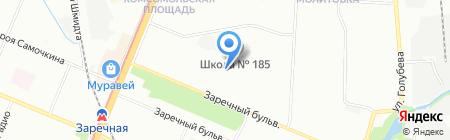 Детский сад №117 на карте Нижнего Новгорода