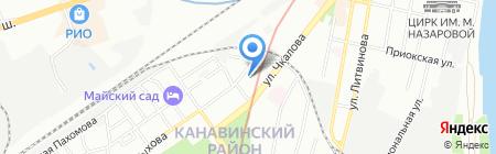Логика на карте Нижнего Новгорода