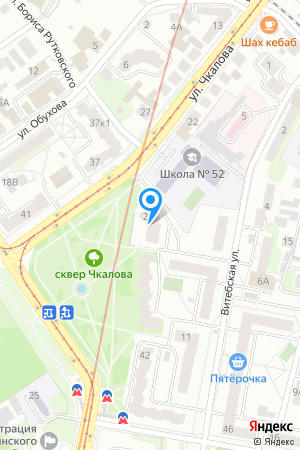 Дом 28 по ул. Чкалова на Яндекс.Картах