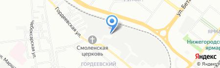 Тандем на карте Нижнего Новгорода