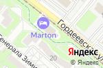 Схема проезда до компании Мартон Гордеевский в Нижнем Новгороде