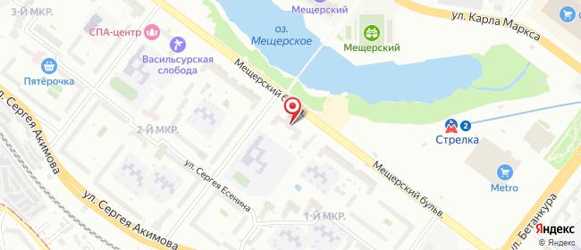 Карта расположения пункта доставки Нижний Новгород Мещерский в городе Нижний Новгород