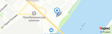 Сеть магазинов отделочных материалов на карте Нижнего Новгорода