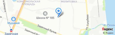 Магазин цветов на ул. Адмирала Макарова на карте Нижнего Новгорода